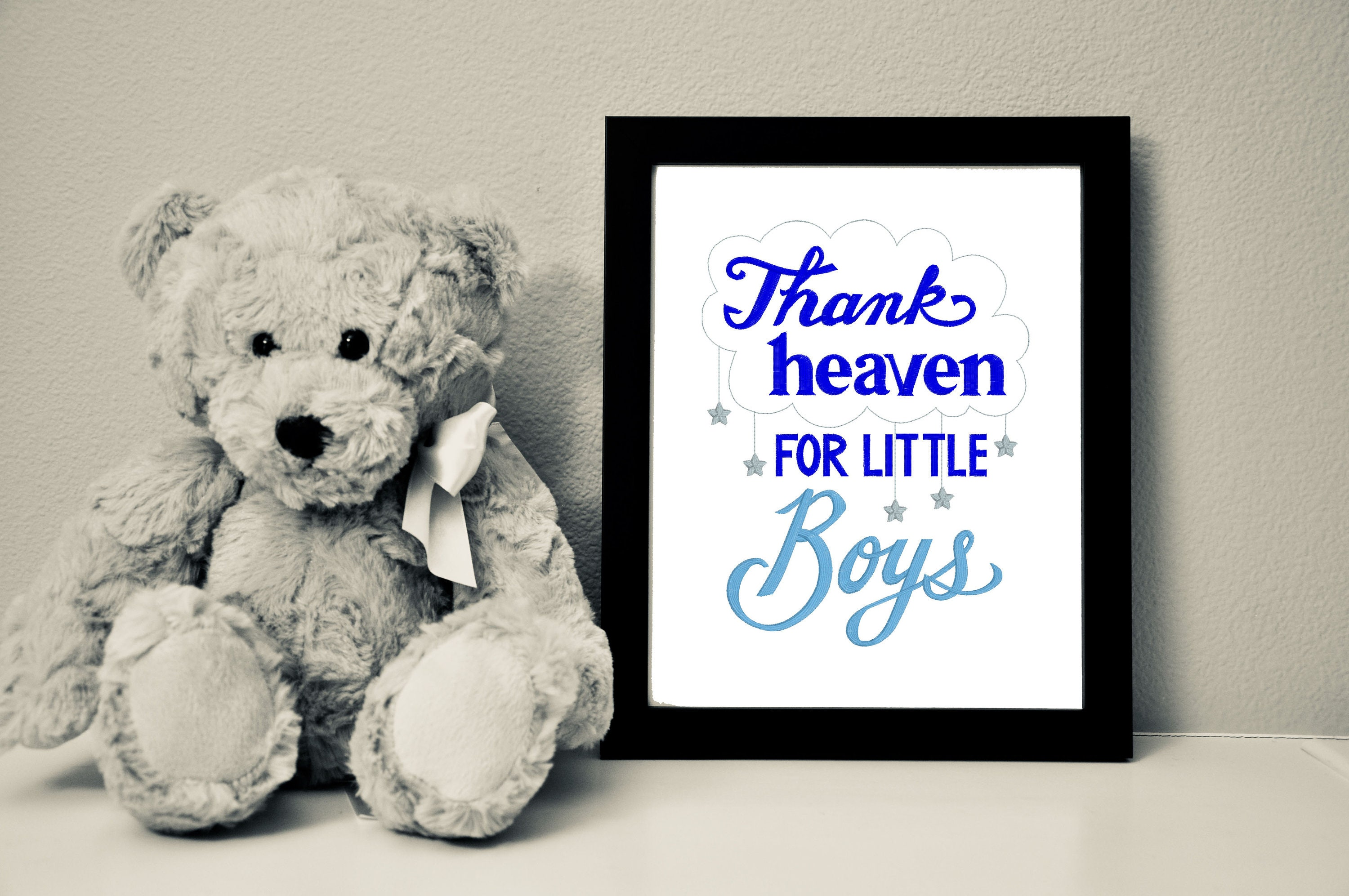 Thank Heaven for Little Boys/Girls Canvas 8x10