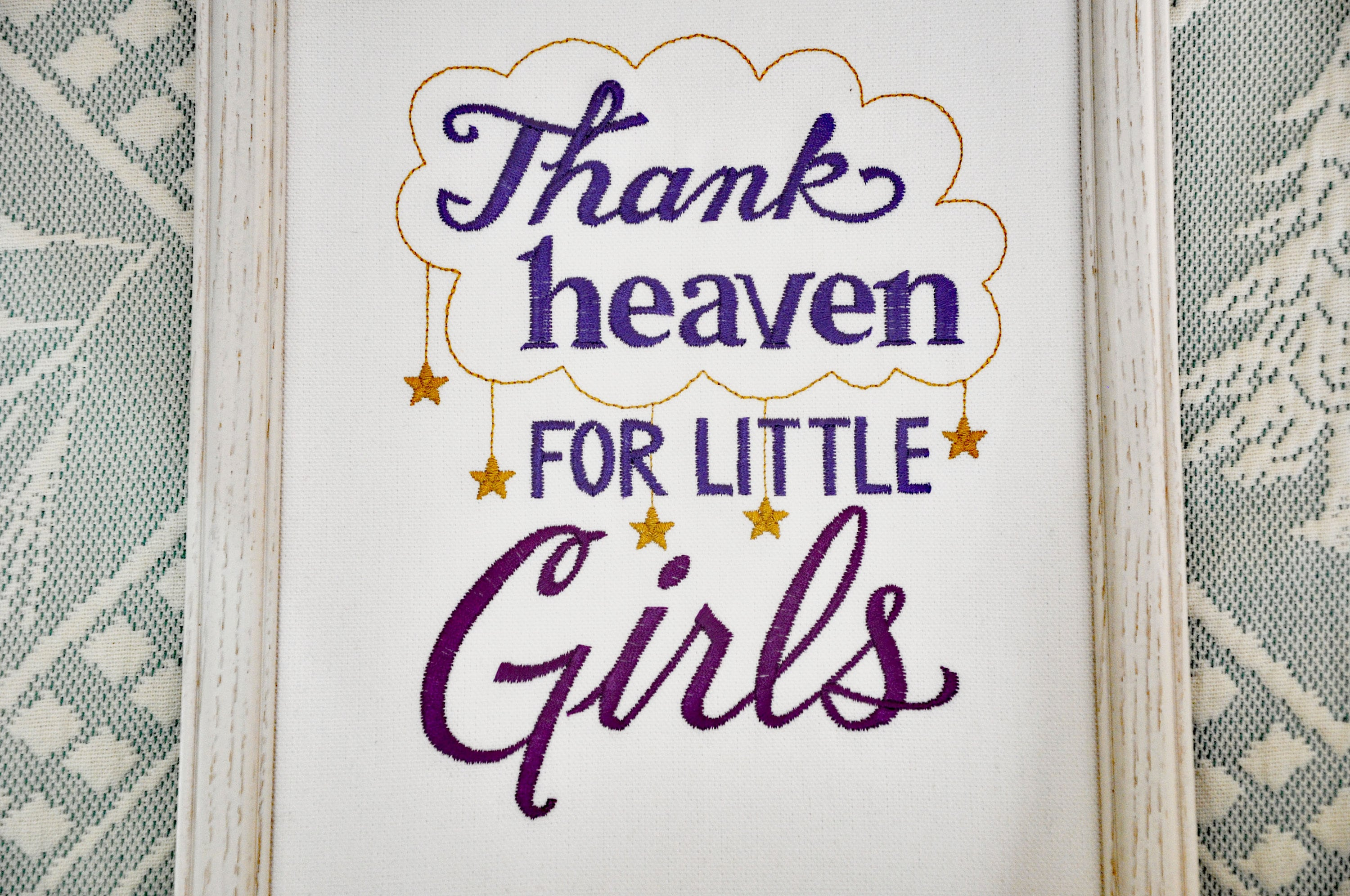 Thank Heaven for Little Girls/Boys Canvas, 8x10