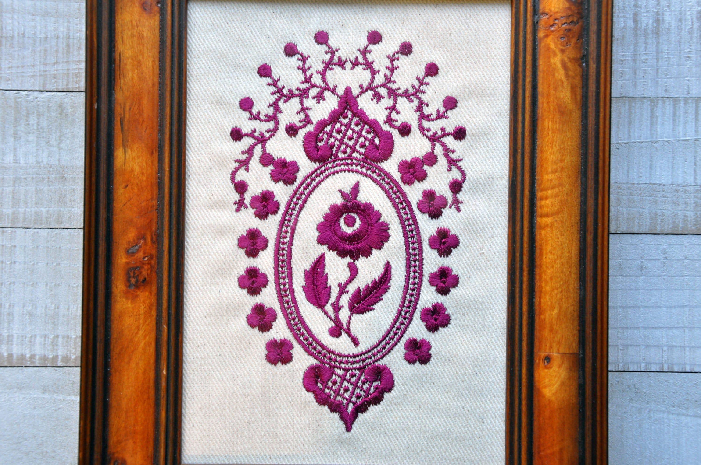 DAR Rose Medallion Canvas, 5x7 or 8x10