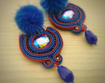 Soutche Blue Berry Earrings