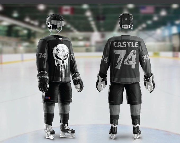 Punish Skull Hockey Jersey