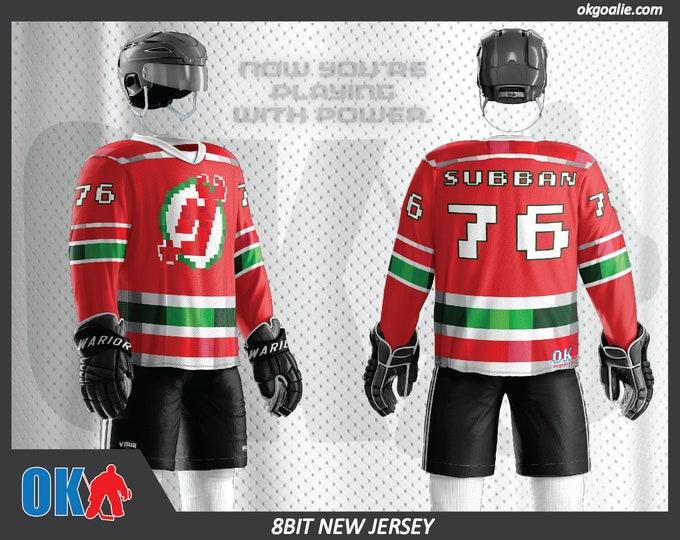 8bit New Jersey Hockey Jersey