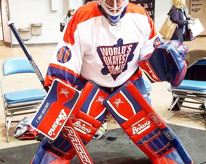 World's Okayest Goalie Hockey Jerseys