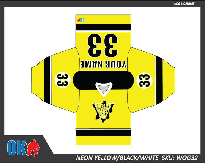 World's Okayest Goalie Neon Series Jerseys