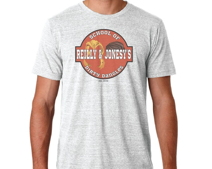 Riley & Jonesy's School of Dirty Dangles tee shirt