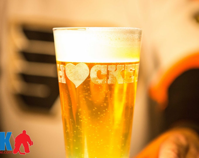 Hockey Love / Goalie Love Pint Glass