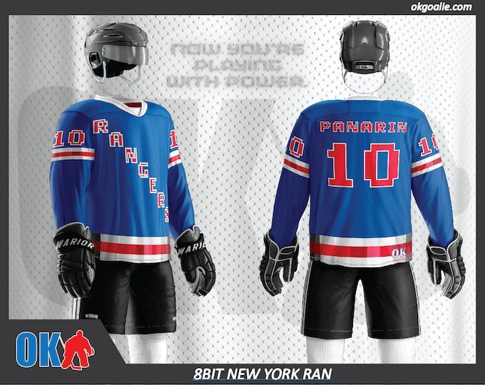 8bit New York Ran Hockey Jersey