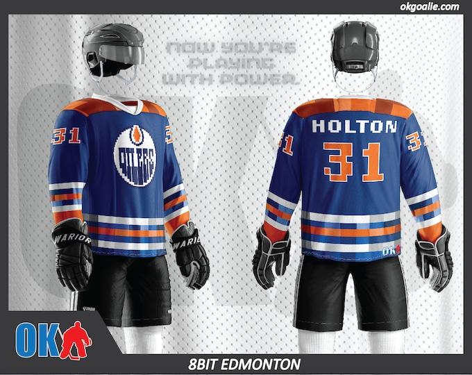 8bit Edmonton Hockey Jersey