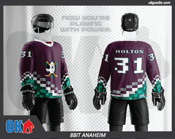 8bit Anaheim Hockey Jersey