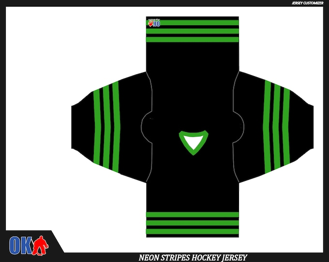 Neon Stripes Custom Hockey Jersey