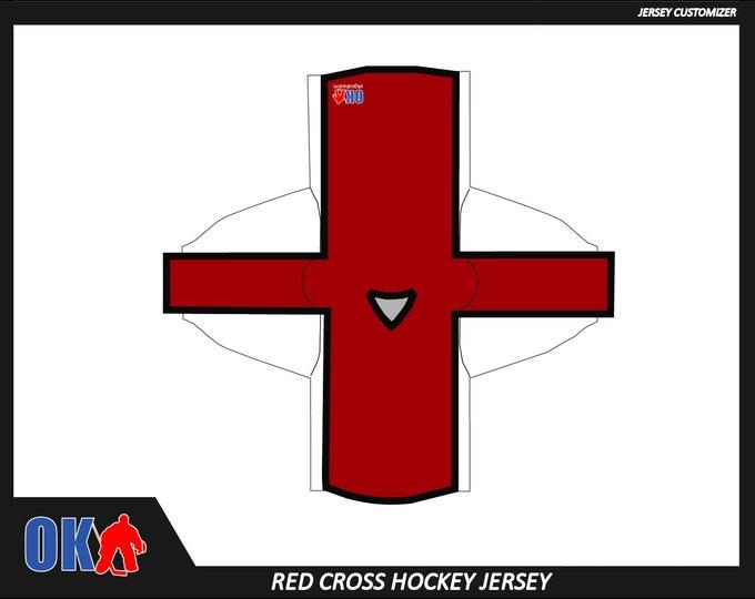 Red Cross Custom Hockey Jersey