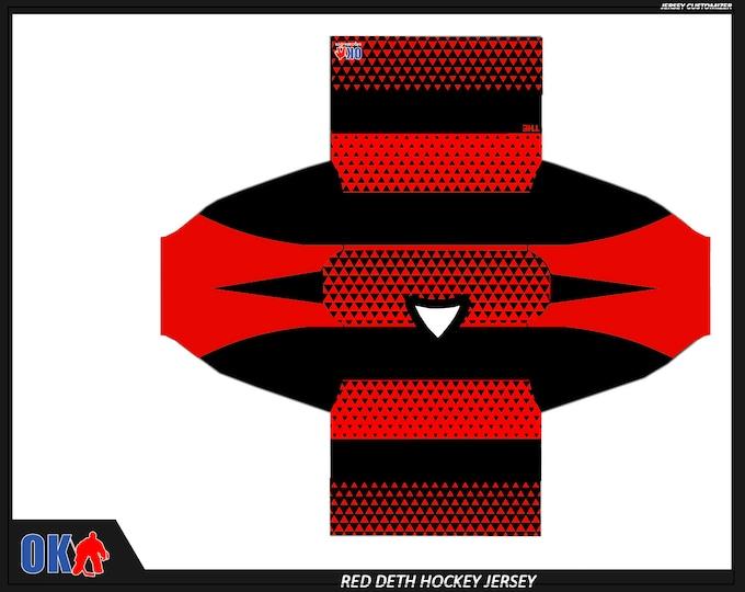 Red Deth Custom Hockey Jersey