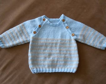 baby boy blue and grey sweater