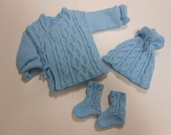 Baby, life jacket, bonnet and socks set size 1 month