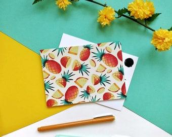 Pineapple Summer Pattern Postcard A6