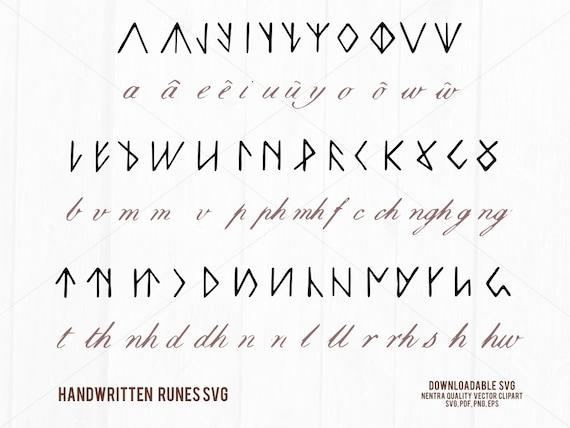 80 Off Sale Rune Set Viking Clipart Alphabet Svg Wicca Celtic