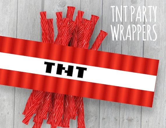 80 Off Sale Tnt Wrappers Video Game Mine Theme Party Etsy