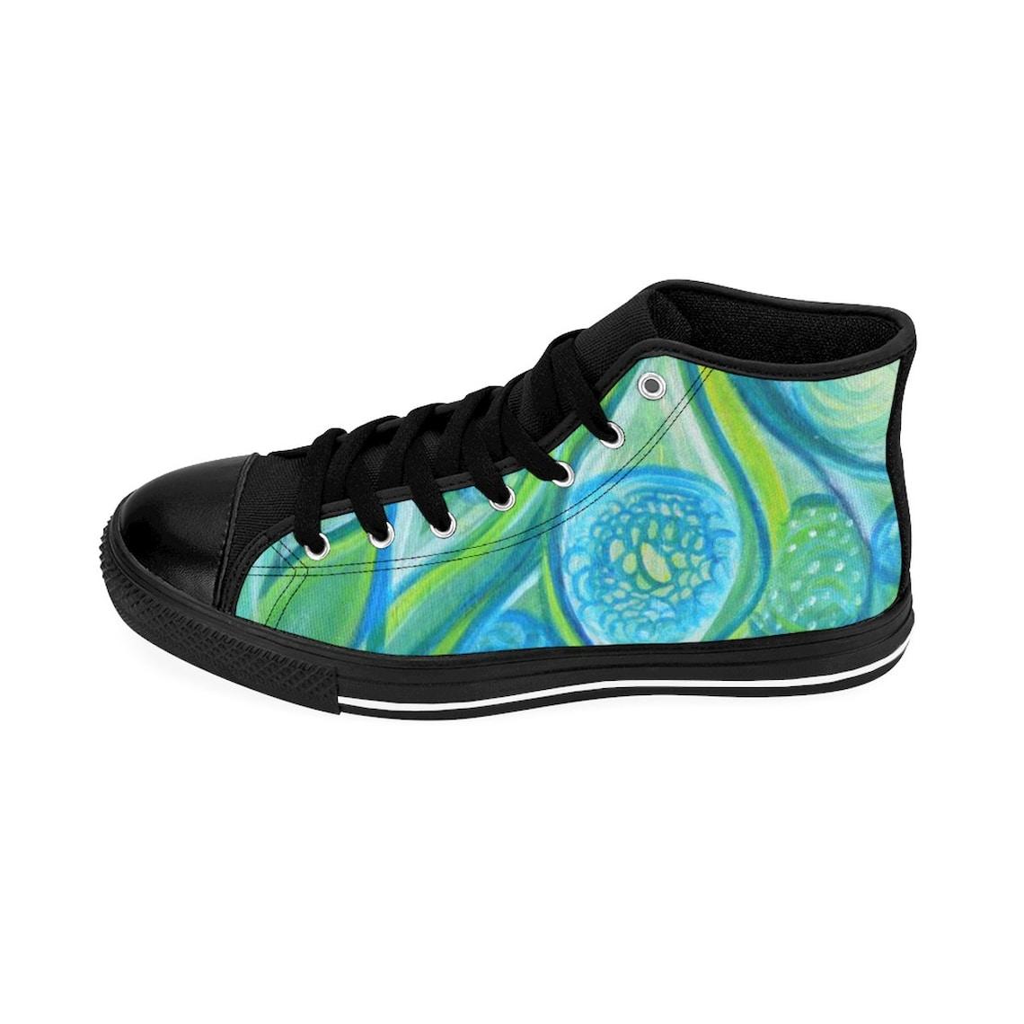 Womens Funky Eye High Top Sneakers Shoes