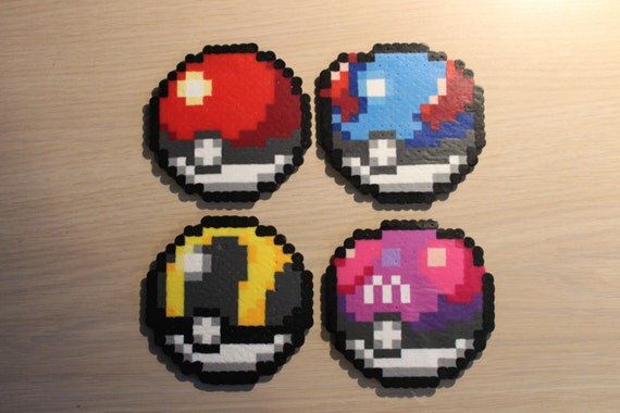Pokéball Pixel Art Perle Sprites Aus Der Pokémon Serie Etsy