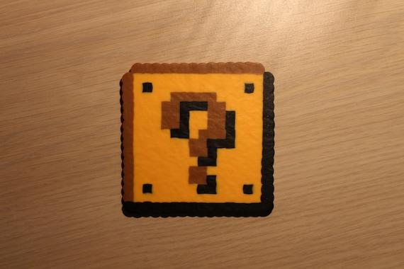 2D Fragezeichen Block Pixel Art Bead Sprite Aus Super Mario
