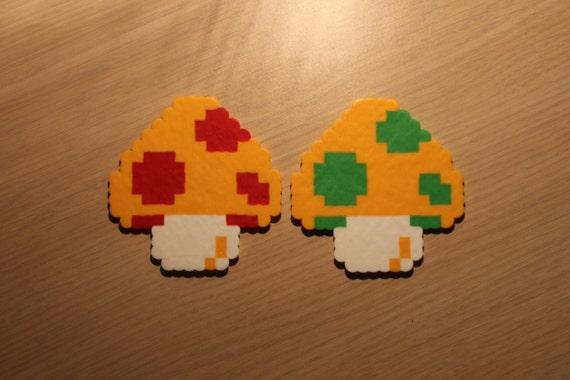Mario Champignons Pixel Art Bead Sprites De Super Mario Bros