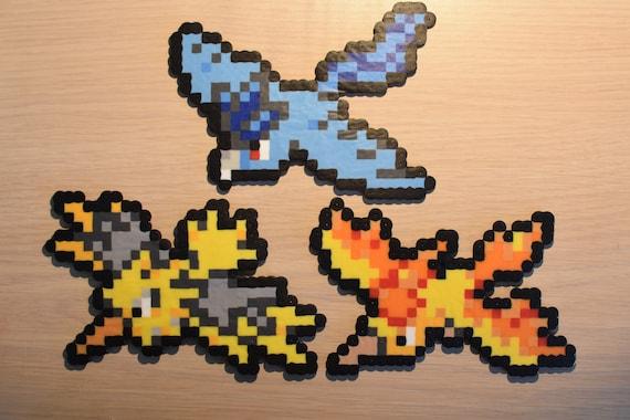 Oiseaux Légendaires Pixel Art Bead Sprites De La Série Pokémon