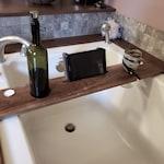 Wooden Bathtub Tray, Bath Accessories, Bath tablet stand, Bath Drinks holder, Birthday gift, Gift for her, Wine stand, Bath Docking Station