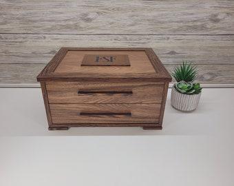 Men's Watch Case - Watch Box for Men - Jewelry Box for Men