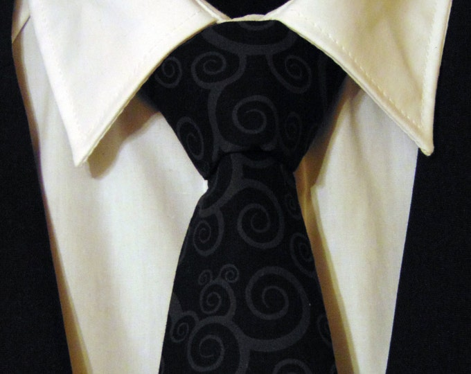 Contemporary Necktie, Contemporary Tie, Mens Necktie, Mens Tie, Black Necktie, Black Tie, Father, Dad, Gift, Christmas, Wedding, Bride, Fun