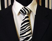 Zebra Necktie, Zebra Tie, Black White Necktie, Black White Tie, Mens Necktie, Mens Tie, Fathers Day, Birthday, Gift, Christmas, Wedding, Dad