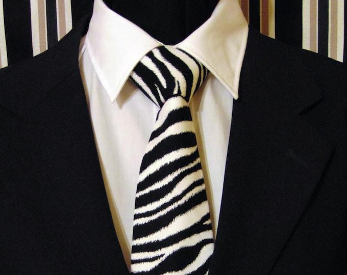 Zebra Necktie, Zebra Tie, Black White Necktie, Black White Tie, Mens Necktie, Mens Tie, Fathers Day, Birthday, Gift, Christmas, Wedding, Dad
