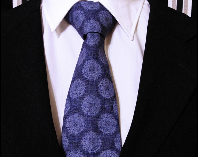 Neckties – Mens Blue Wedding Necktie, Available as a Skinny Tie and a Extra Long Tie