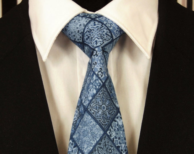 Diamond Necktie, Diamond Tie, Blue Diamond Necktie, Blue Diamond Tie, Mens Necktie, Mens Tie, Blue Necktie, Blue Tie, Father, Dad, Gift, The