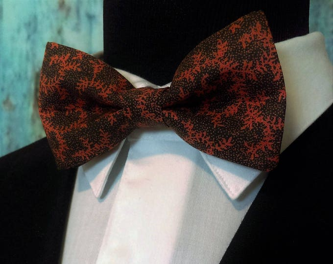 Black Orange Bow Tie, Black Orange Bowtie, Mens Bow Tie, Boys, Bride, Floral, Fathers Day, Birthday, Gift, Wedding, Christmas, Dad, Prom
