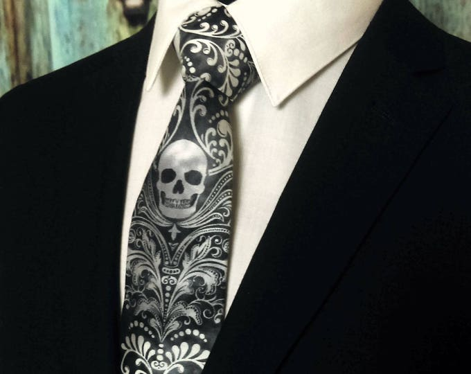 Skull Necktie – Skull Tie, Please read item description..