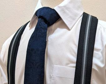 Childs Deep Royal Blue Skull Necktie – Childs 2.5 x 48in Tie