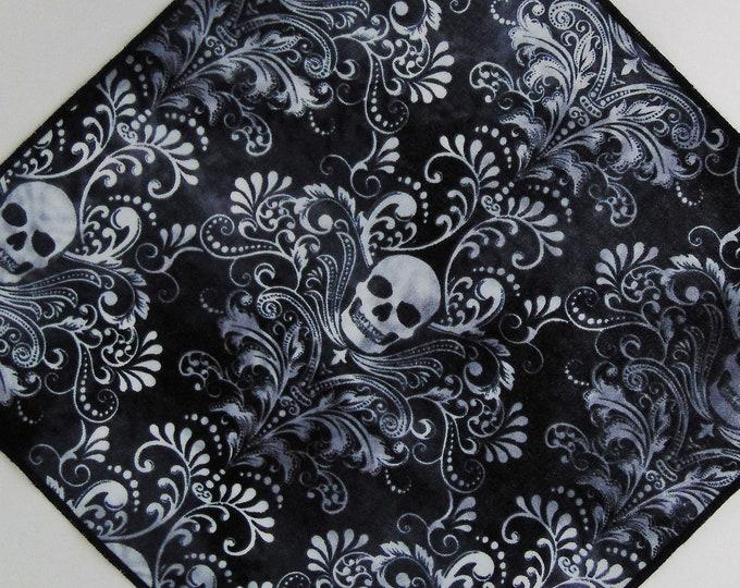 Pocket Squares – Mens Skull Pocket Square Only. Skull Necktie Not Included.