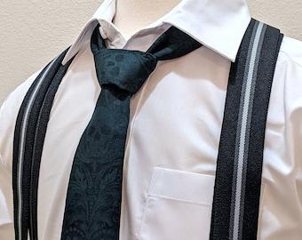 Ties for Boys – Childs 2.5 x 48in Dark Green Skull Tie