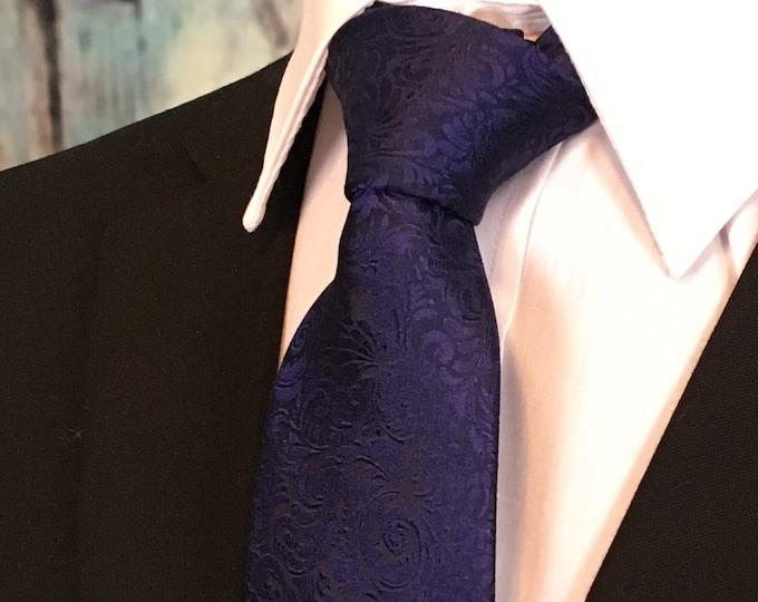 Grooms Necktie – Mens Purple Floral Tie