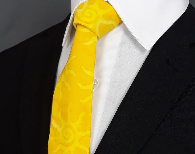 Weatherman Necktie – Bright Sun Tie, Yellow Bright Sun Necktie