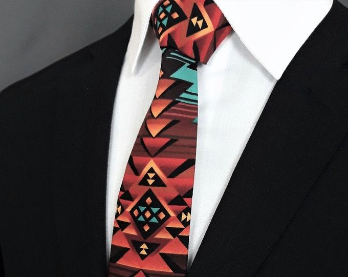Native American Style Necktie – Necktie with Native American Design