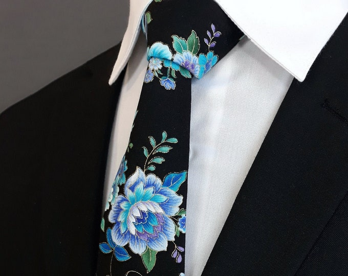 Mens Floral Necktie – Ties with Floral Pattern