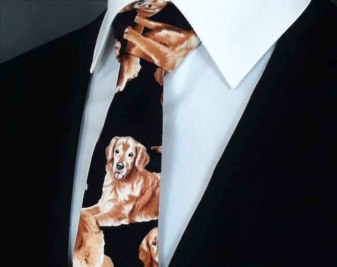 Golden Retriever – Mens Golden Retriver Necktie