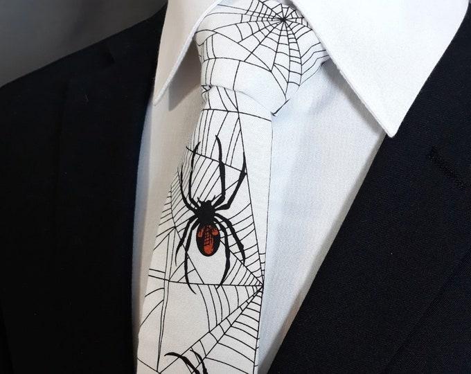 Black Widow Necktie Tie – Spider Tie