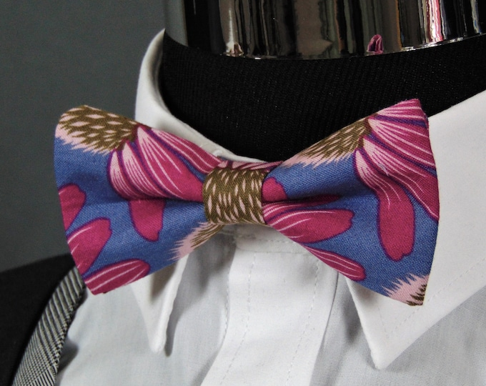 Bow Tie Floral – Colorful Floral Cotton Bowtie for Men or Boys