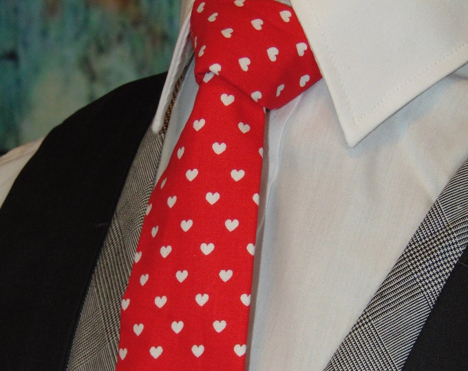 Valentines Ties – Mens Red Valentines Day Necktie
