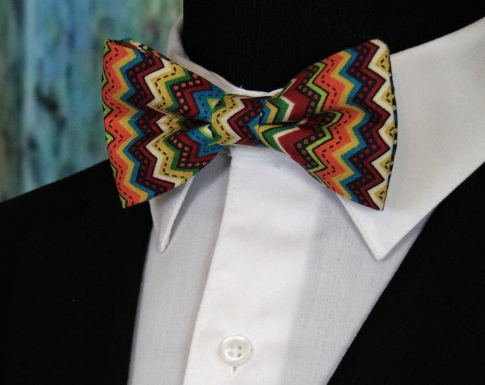 Cinco De May Bow Tie – Mens Pretied Bowtie for Cinco De Mayo. Also available as a Extra Long Bow Tie.
