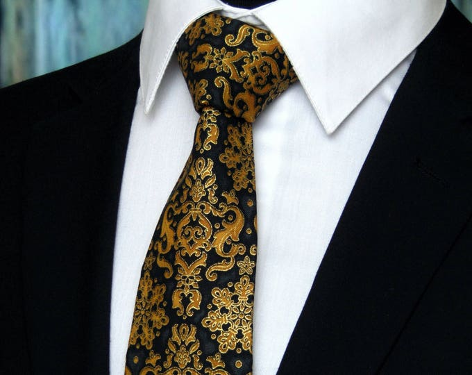 Wedding Ties – This Mens Tie is the perfect Necktie for the Big Day, Also Great Groomsmen Tie or Black Tie Gift, Available Skinny Tie