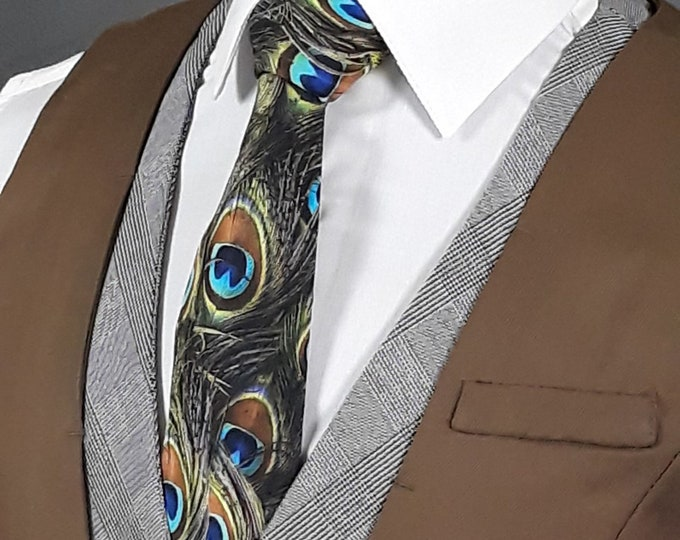 Peacock Necktie – Peacock Feathers Neck Tie