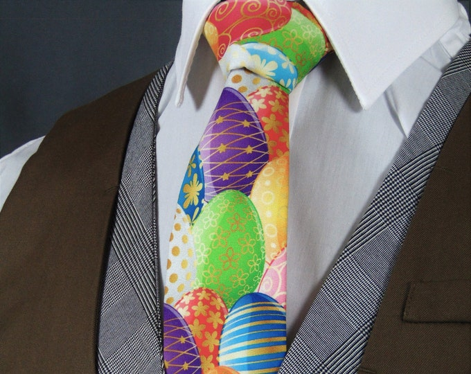 Easter Necktie – Mens Colorful Easter Egg Tie